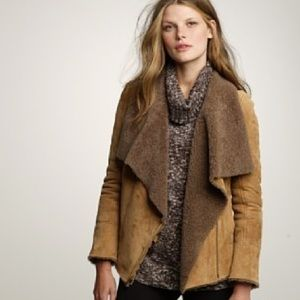 J.crew collection shearling jacket.